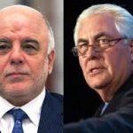 تيلرسون للعبادي:نسعى لإعادة العراق إلى وضعه الطبيعي