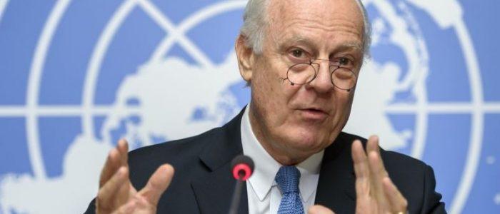 دي ميستورا يدعو إلى تسريع وتيرة المفاوضات لإنهاء الحرب في سوريا