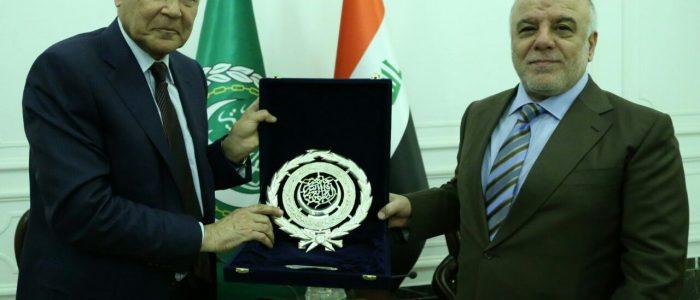 العبادي وأبو الغيط يؤكدان على تعزيز التعاون العربي ومكافحة الارهاب