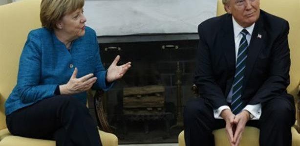 ترامب يرفض مصافحة ميركل في البيت الأبيض