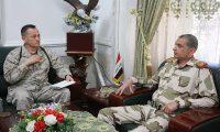 الغانمي ويوري بي يبحثان تعزيز التعاون العسكري بين العراق والتحالف الدولي