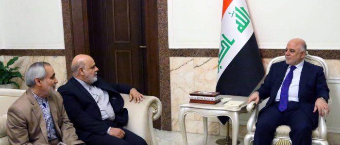 """العبادي """"يثمن"""" الدور الإيراني في استقرار العراق!!"""