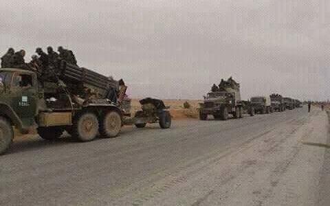تعزيزات عسكرية سورية باتجاه الحدود العراقية الأردنية