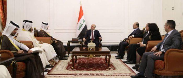العبادي وآل ثاني يؤكدان على تعزيز العلاقات بين العراق وقطر