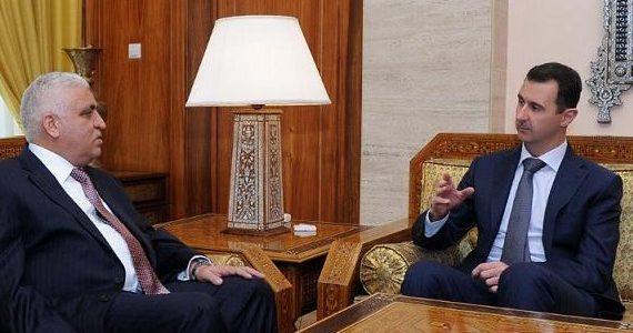 الفياض ينقل رسالة شفهية من العبادي إلى الأسد تؤكد على التنسيق المشترك