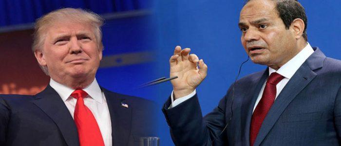 ترامب والسيسي يبحثان هاتفيا القمة العربية الأمريكية