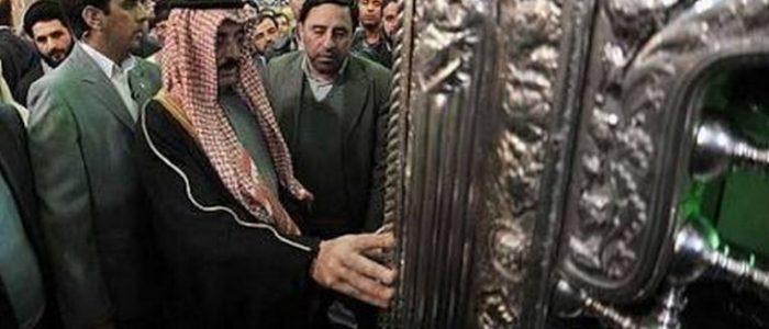 """وزير الثقافة القطري """"يزور قبر المعصومة""""في إيران!"""