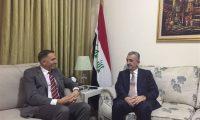 """محافظ الانبار يبحث مع شركة """"اوليف كروب"""" تأمين الطريق السريع مع الأردن"""