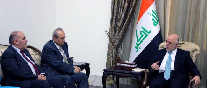 العبادي والوفد الكردي يؤكدان على مواصلة الحوار والحفاظ على وحدة العراق