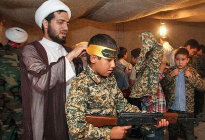 خلافا لحقوق الإنسان..استمرار تدريب الأطفال من قبل الحشد الشعبي