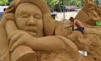 النحت على الرمل