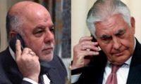 تيلرسون يؤكد للعبادي موقف بلاده الرافض لاستفتاء كردستان