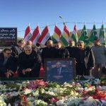 """سليماني يزور قبر صديقه """"الحميم طالباني"""""""