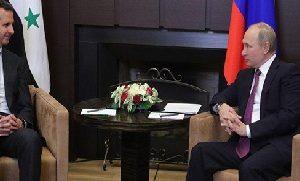 بوتين والأسد يبحثان التسوية السورية في سوتشي