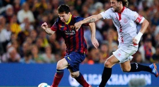 برشلونة يفوز على اشبيلية في دوري الاسباني