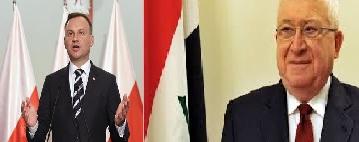 معصوم ونظيره البولندي يؤكدان على تعزيز العلاقات بين البلدين