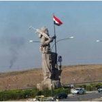 جدل حول رفع العلم العراقي فوق نصب البيشمركة في كركوك!