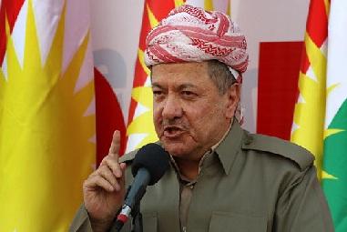 """البارزاني:الخيانة """"والاحتلال""""لن يغير الهوية الكردستانية لكركوك وبقية المناطق الأخرى!!"""