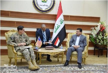 الاعرجي وفوتيل يبحثان الأوضاع الأمنية في العراق