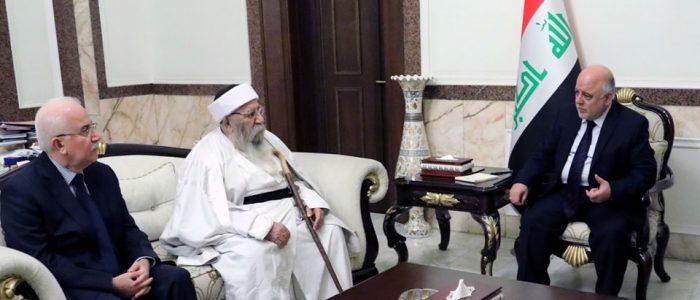العبادي:الحكومة حريصة على رعاية جميع المكونات العراقية