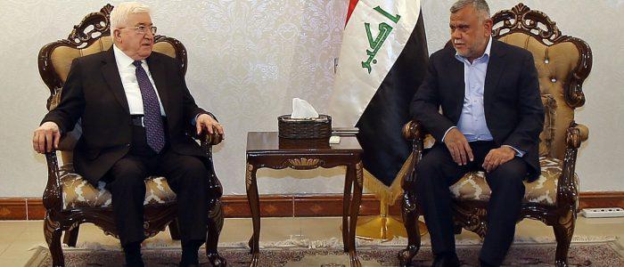 معصوم يدعو العامري إلى مساهمته في تعزيز الثقة بين بغداد وأربيل