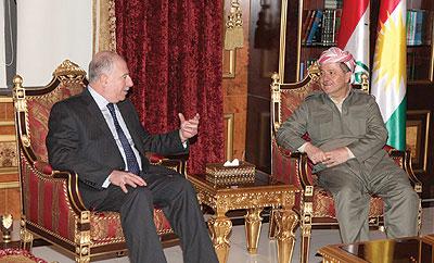 النجيفي والبارزاني يؤكدان على الحوار بين بغداد وأربيل