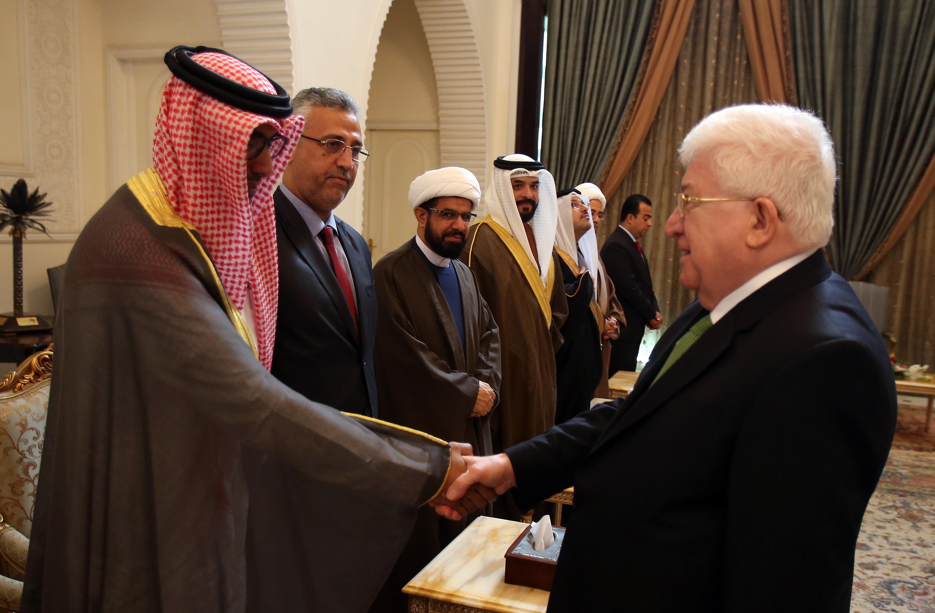 معصوم يدعو إلى تعزيز العلاقات بين العراق والبحرين