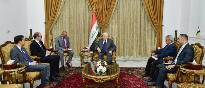 معصوم وسيليمان يؤكدان على الحوار بين بغداد وأربيل