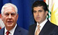 تيلرسون للبارزاني:الدستور العراقي هو السبيل الوحيد لحل المشاكل مع بغداد
