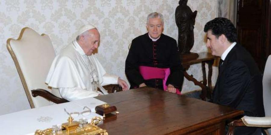 البارزاني:نأمل من البابا فرنسيس التوسط بين بغداد وأربيل