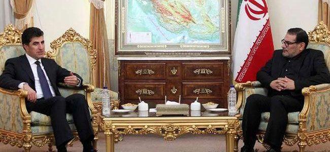 شمخاني لبارزاني:لن نسمح لكردستان العراق أن تكون بؤرة للعصابات الإرهابية