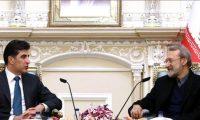 لاريجاني للبارزاني:استراتيجية إيران مع وجود إقليم كردستان في اطار الدستور العراقي