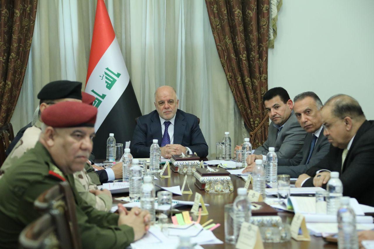 العبادي يجتمع بالمجلس الوزاري للأمن الوطني