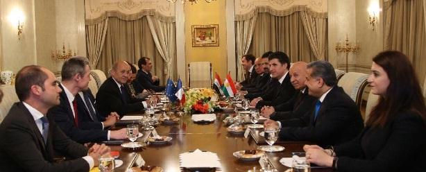 لودريان:فرنسا تدعم حل الخلافات بين بغداد وأربيل وفق الدستور