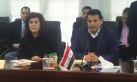 لقاء السيد قاسم الاعرجي بالسيد وزير الداخلية الاردني اليوم