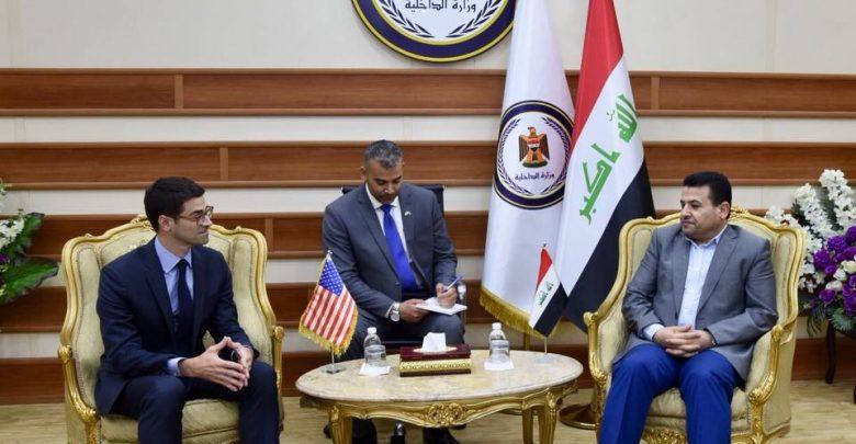 الاعرجي وكارم يبحثان تعزيز التعاون الأمني بين بغداد وواشنطن