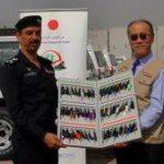 اليابان تهدي الشرطة المجتمعية 28 سيارة ذات الدفع الرباعي