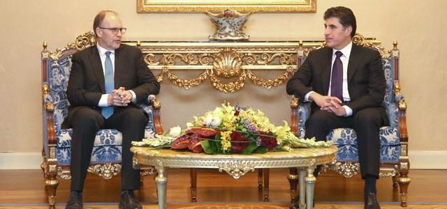 بارزاني وسيليمان يؤكدان على مواصلة الحوار بين بغداد وأربيل