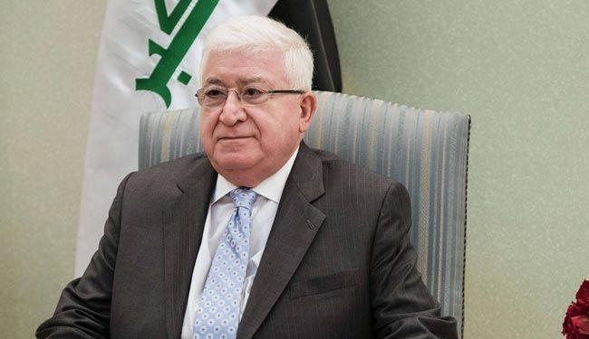 معصوم:حوار هادىء غير معلن بين بغداد وأربيل وإيران تعمل لمصلحة العراق