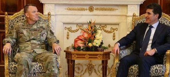 """بارزاني """"يثمن""""الدعم الأمريكي المستمر إلى كردستان"""