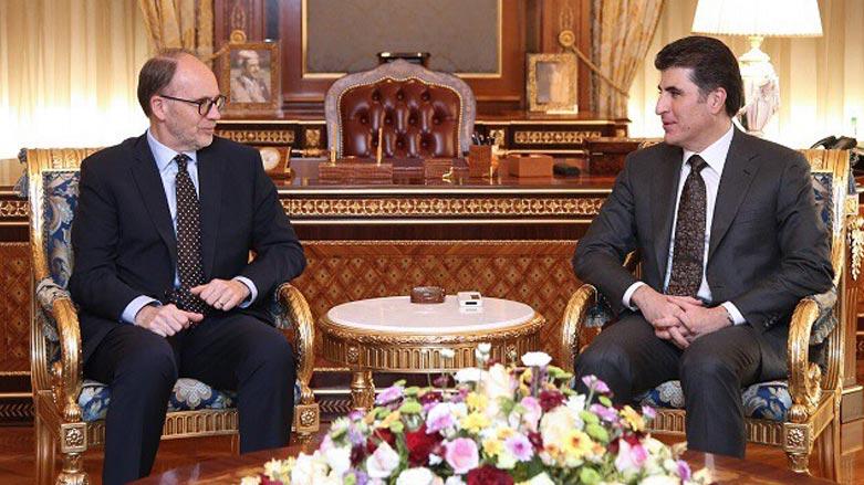 بارزاني وسيليمان يؤكدان على تعزيز التعاون بين واشنطن وأربيل