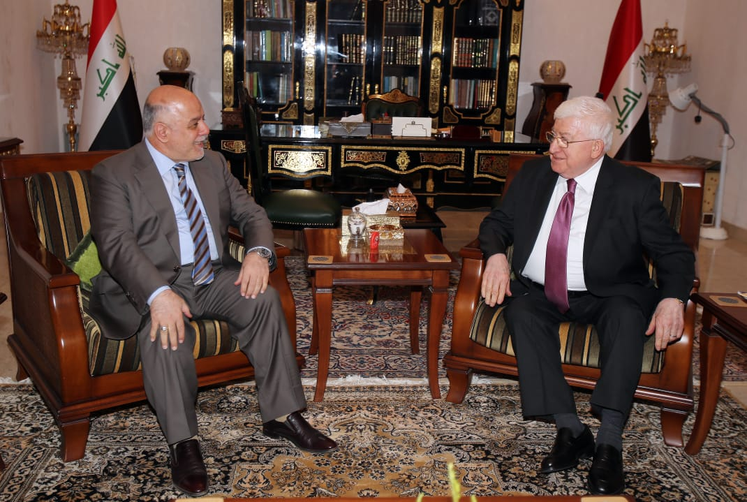 معصوم والعبادي يؤكدان على أحترام قرار القضاء العراقي حول نتائج التزوير الانتخابي