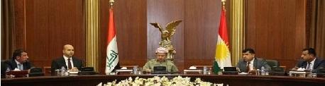 مسعود:نرفض الواقع العسكري في كركوك وبقية المناطق المختلف عليها