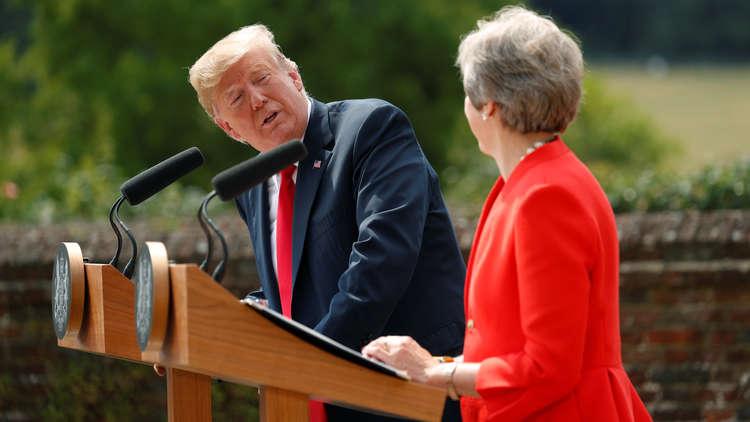ترامب:اتفقنا مع بريطانيا على منع إيران من الحصول على السلاح النووي