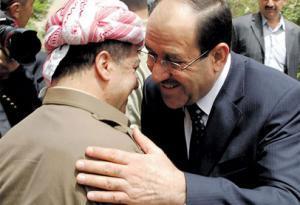حزب بارزاني:المالكي أوعدنا بانضمام كركوك وكل المناطق المتنازع عليها إلى خارطة كردستان مقابل التحالف معه