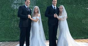 توأم أميركي من شابين تزوجا بتوأم من شابتين