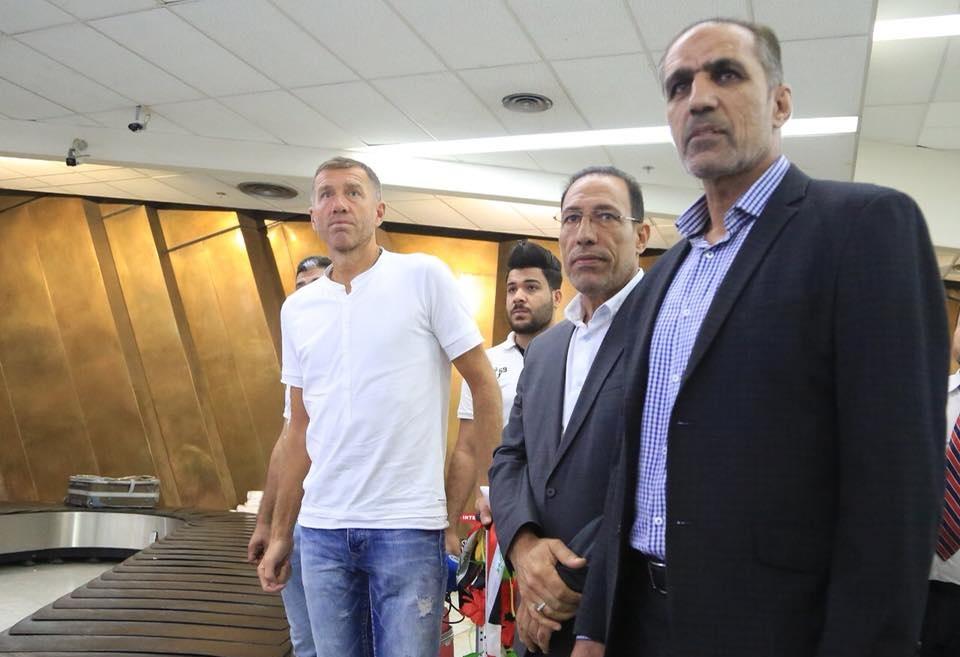وصول المدرب كاتانتيش وملاكه التدريبي إلى بغداد