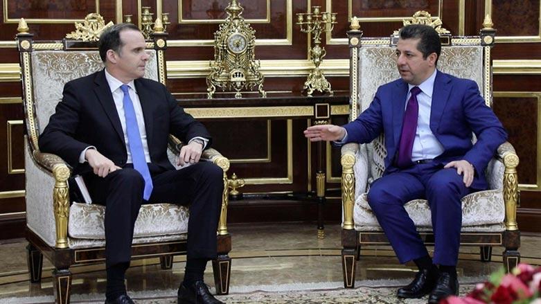 مسرور وماكغورك يؤكدان على التنسيق والتعاون بين البيشمركة والتحالف الدولي