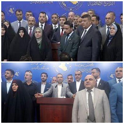 تحالفي سائرون والفتح يطالبان العبادي وحكومته بتقديم الاستقالة