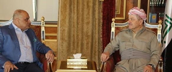 البارزاني ووفد سائرون يؤكدان على حل الخلافات بالحوار